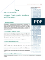 A Tutorial on Data Representation - Integers, Floating-point Numbers, And Characters