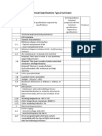 Technical Specifications Type 2 Luminaire