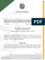 Decreto de Garantía de los activos de Chevron Corporation en Venezuela.