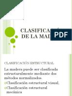 Clasificación de La Madera