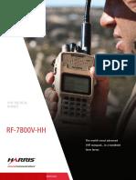 Harris Falcon III Rf 7800v Hh Handheld Vhf Tactical Radio Brochure