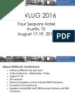 MWLUG2016 Overview
