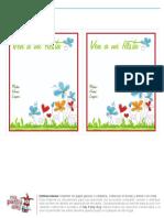 Invitación imprimible flores