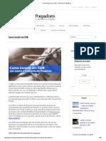 Como Investir Em CDB - Clube Dos Poupadores