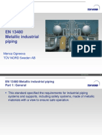 Metallic industrial piping guide