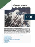 Las 10 Montañas Más Altas de Bolivia Para Practicar Andinismo
