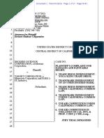 Deckers v. Target - Complaint (Yoga Sling Trade Dress)