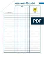 Class Awards Checklist Happy Stickers