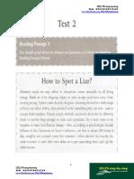 Actual Test Reading Volume 1 Test 2