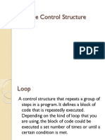 C Programming Module 5 - Iterative Control Structure