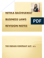 CA Foundation Contract Act Revision Charts by Nitika Bachhawat Mam