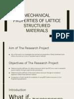 Mechanical Properties of Lattice Structured Materials