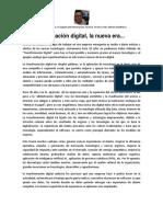 Transformacion Digital, La Era Del Nuevo Negocio