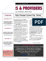 Payers & Providers – Issue of November 11, 2010