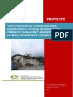 Proyecto Centro de Faenamiento Municipal