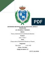 Ensayo Sobre La Planificación Educativa en Panamá