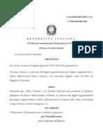 Ordinanza TAR n. 01129 Del 2019