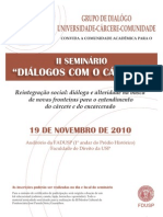 """II Seminário """"Diálogos com o Cárcere"""""""