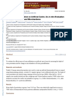 Effect of Resin Infiltration on Artificial Caries
