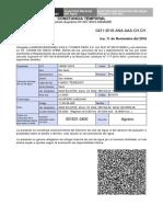 Constancia Temporal 0431-2016 (Anulada)