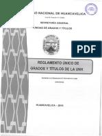 Reglamento Único de Grados y Títulos de La Unh