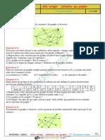 Série d'Exercices Avec Correction - Math - Initiation Aux Graphes - 3ème Economie & Gestion (2016-2017) Mme GUESMIA AZIZA