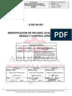 E-SGS-2A-001 Identificación de Peligros Evaluación de Riesgos y Controles IPERC V2