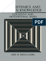 (Perspectives in Social Psychology) Arie W. Kruglanski (Auth.) - Lay Epistemics and Human Knowledge_ Cognitive and Motivational Bases-Springer US (1989)