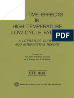 STP 489 - (1971) Hold-Time Effects in High-Temperature Low-Cycle Fatigue A Literature Survey and Interpretive Report.pdf