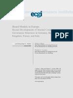 Board Models in Europe