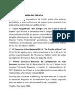 Nota de Prensa 11 Julio