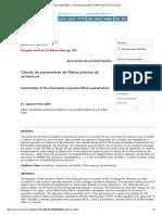 Cálculo de parámetros de filtros pasivos de armónicos