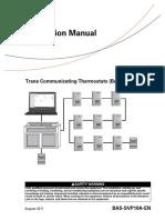 Trane Communicating Thermostats (BACnet), BAS-SVP10A-En 47626