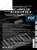 MANUAL YAMAHA PSR E463