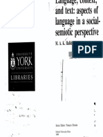 Halliday Hasan Language Context and Text Aspects of Language in a Social Semiotic Perspective