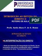 Introdução Ao Estudo Do Direito - Interpretação (Slides)