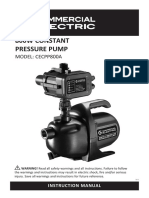 Pumping Plumbing Electric Pumps Pump Pressure 1IN E CPP 800A Operation Manual