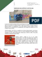 Juegos Panamericanos 2019, Artístico Ya Está en Lima