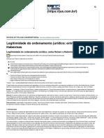 Legitimidade Do Direito_ Entre Kelsen e Habermas