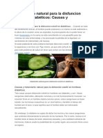 Tratamiento Natural Para La Disfuncion Eréctil en Diabéticos