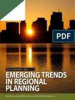Emerging Trends in Regional Planning