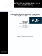 Black, Component Testing and Characterization of Buckling-Restrained Braces