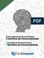 Anais do IV Congresso Internacional de Direitos da Personalidade