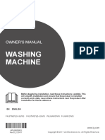 Technical and user manual for LG washing machines.