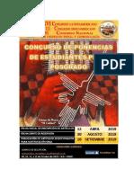 Bases Para El Concurso de Ponencia Estudiantiles y de Postgrado Conadepc Ica 2019.