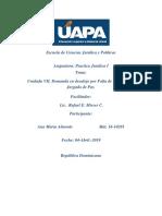 Unidad VII Practica Juridica Demanda en Desalojo