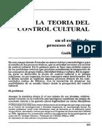 2. Bonfil 1989  La teoría del control cultural