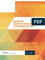 Boletim de saúde e segurança do consumidor 2015