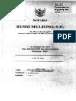 Akta Notaris Rusdi Muljono No.35-130417