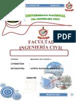 Resalto Hidraulico - Campo y Teorico 2019